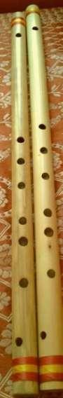 self made bamboo flutes scale , E & F note